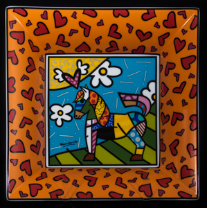 Goebel : Coppa in porcellana Romero Britto : Dancer (arancione)