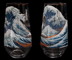 Hokusai Set of 2 glasses : The Great Wave of Kanagawa