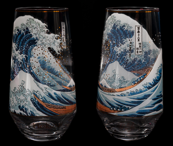 Hokusai Set of 2 glasses : The Great Wave of Kanagawa, Goebel