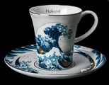 Hokusai coffee cup and saucer : The Great Wave of Kanagawa
