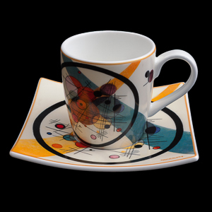 Kandinsky expresso cup and saucer : Circles in the circle