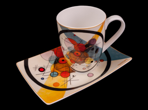 Kandinsky mug and saucer : Circles in the circle