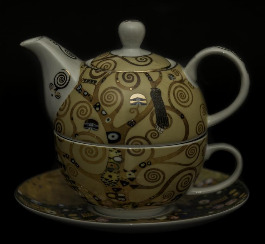 gustav klimt porcelain tea for one the tree of life goebel