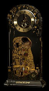 Gustav Klimt Desk clock : The kiss