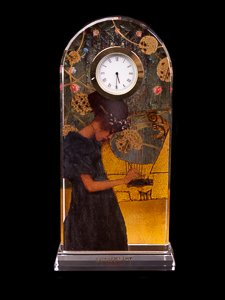 Desk clock Gustav Klimt : Music