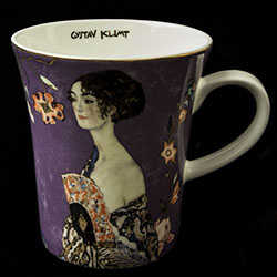 Goebel : Gustav Klimt mug : Lady with fan
