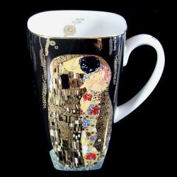 Goebel : Mug noir Gustav Klimt : The kiss