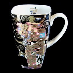 Goebel : Mug noir Gustav Klimt : Fulfillment