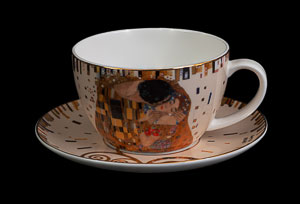 Tasse à thé, mug Gustav Klimt : The kiss (white)