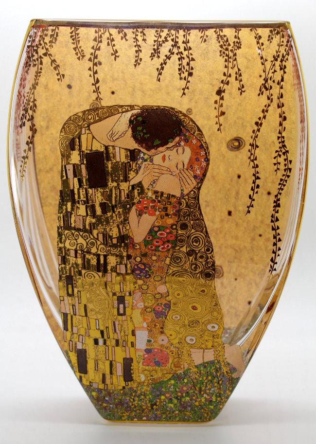 Gustav Klimt Glass Vase