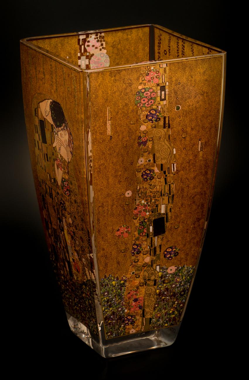 Gustav Klimt Glass Vase The Kiss