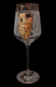 Goebel : Wine Glass Gustav Klimt : The kiss