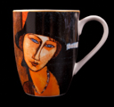 Modigliani mug, Woman with hat