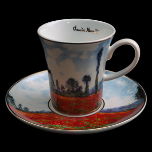 Goebel : Claude Monet coffee cup and saucer : Poppy Field