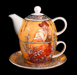 Goebel : Mucha Porcelain Tea for One, Topaz