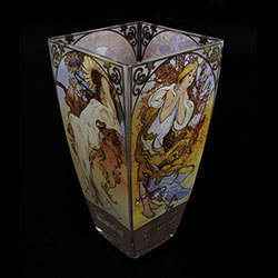 Alfons Mucha Glass vase : The Four Seasons