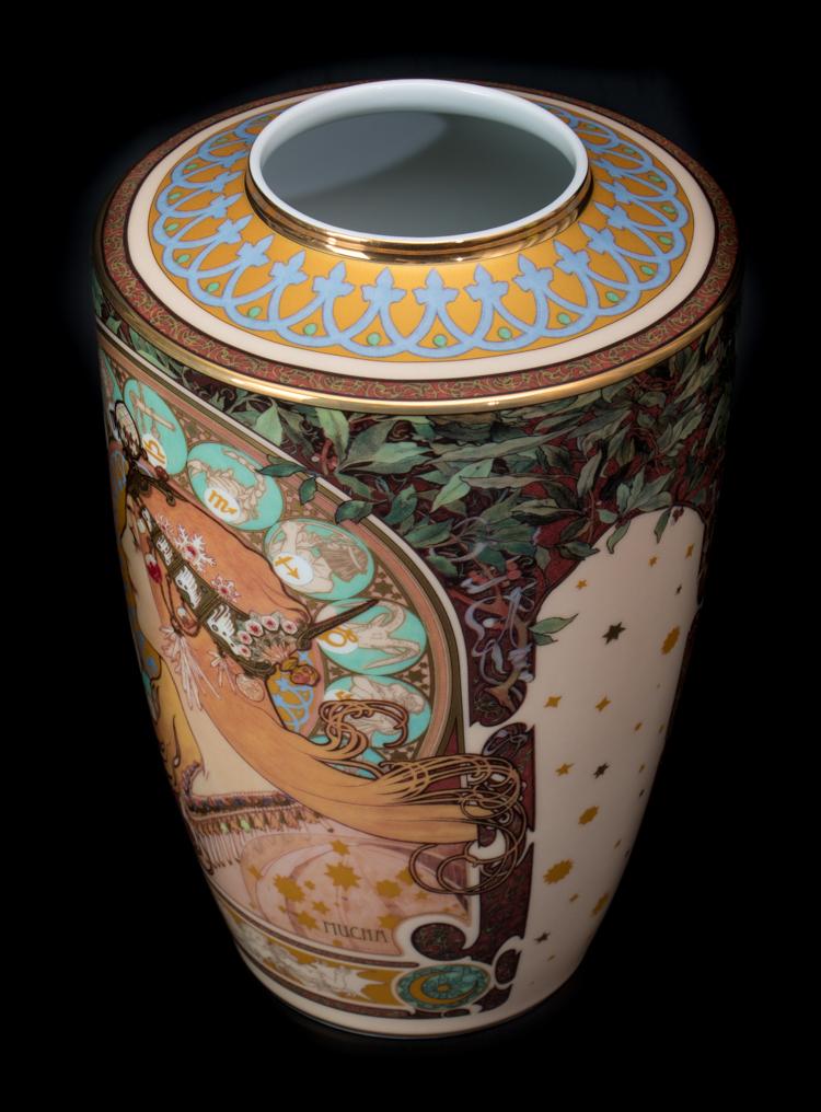 Alfons Mucha Porcelain Vase Zodiac