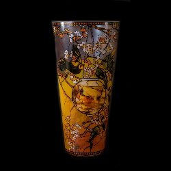Goebel : Vase en verre Louis C. Tiffany : Perruches