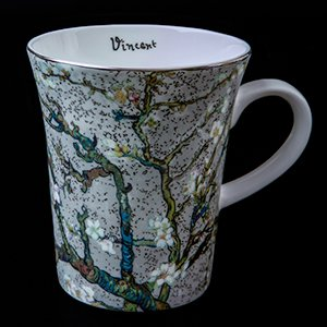 Goebel : Vincent Van Gogh mug : Almond Tree (white)