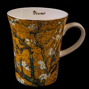 Goebel : Vincent Van Gogh mug : Almond Tree (gold)