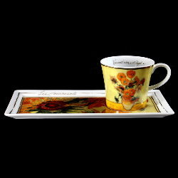 Goebel : Vincent Van Gogh Coffee Set : Sunflowers