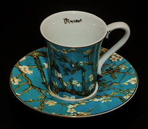 Vincent Van Gogh coffee cup and saucer : Almond Tree