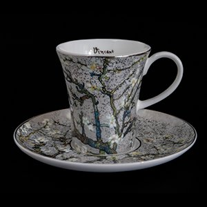 Goebel : Vincent Van Gogh coffee cup and saucer : Almond Tree (white)