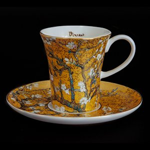 Goebel : Vincent Van Gogh coffee cup and saucer : Almond Tree (gold)