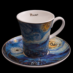 Van Gogh Porcelain coffee cup and saucer : Starry night