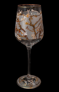 Goebel : Van Gogh Wine Glass : Almond Tree (Gold)