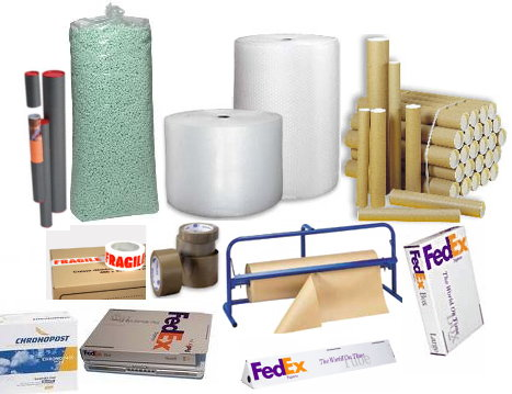 Packing material for the shipping of parcels