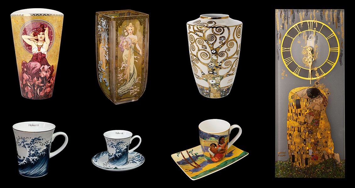 Novelties, artistic porcelains and glasses