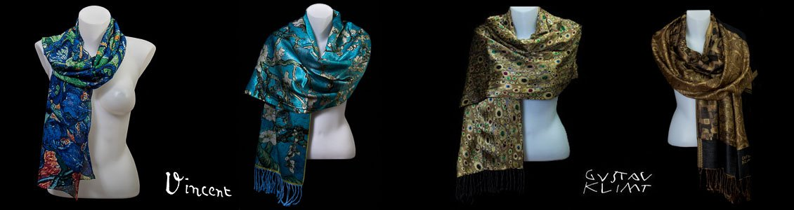 Novelties : Silk stoles and scarves