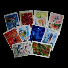 Chagall postcards