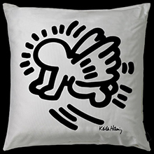 Keith Haring plaids and cushions