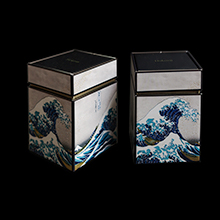Hokusai set of 2 Tea boxes