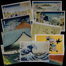 Hokusai postcards