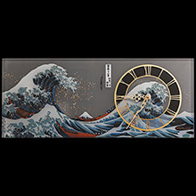 Hokusai desk clocks