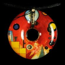 Kandinsky Jewelry : Heavy red