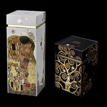 Gustav Klimt lacquered wood box with gold foil