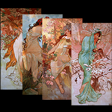 Reproductions sur toiles Mucha