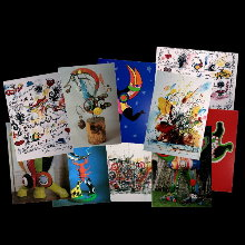 Jean Tinguely postcards