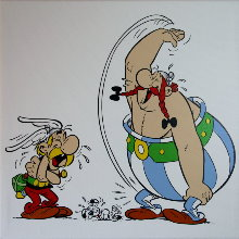 Reproductions sur toiles de Albert Uderzo