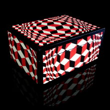 Vasarely lacquered wood box