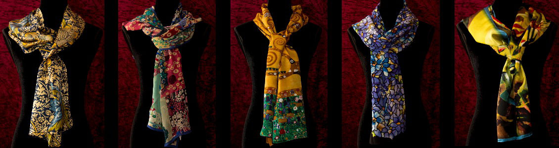 Artistic scarves and stoles