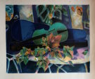 Tony Agostini : Original Lithograph : The blue violin