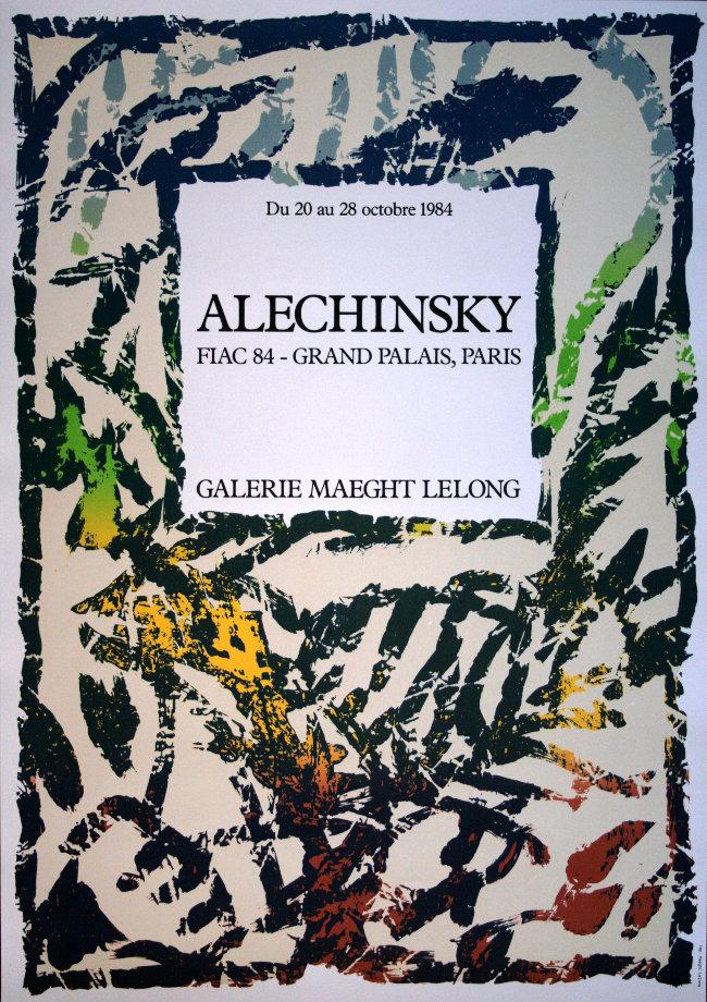 Pierre alechinsky affiche en lithographie originale de for Alechinsky lithographie