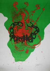 Arman Lithograph - Against Apartheid