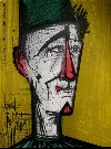 Bernard BUFFET : Lithographie originale : Jojo le clown