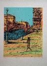 Jean Carzou : Lithographie originale : Canal à Venise